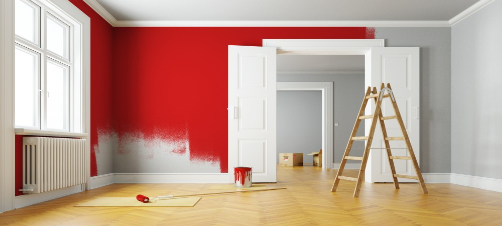 room with red paint